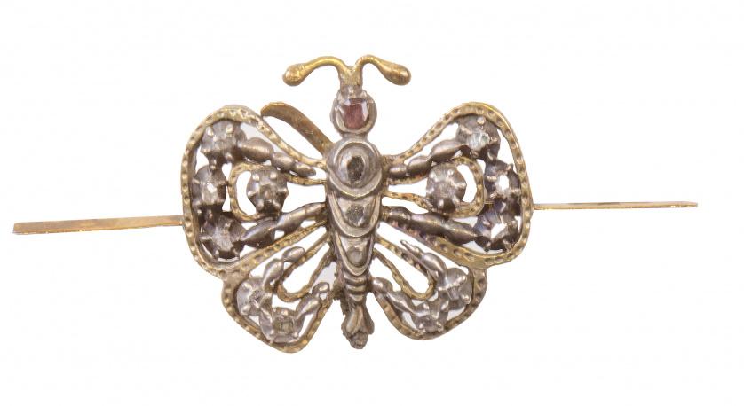 Broche de mariposa de diamantes S. XIX