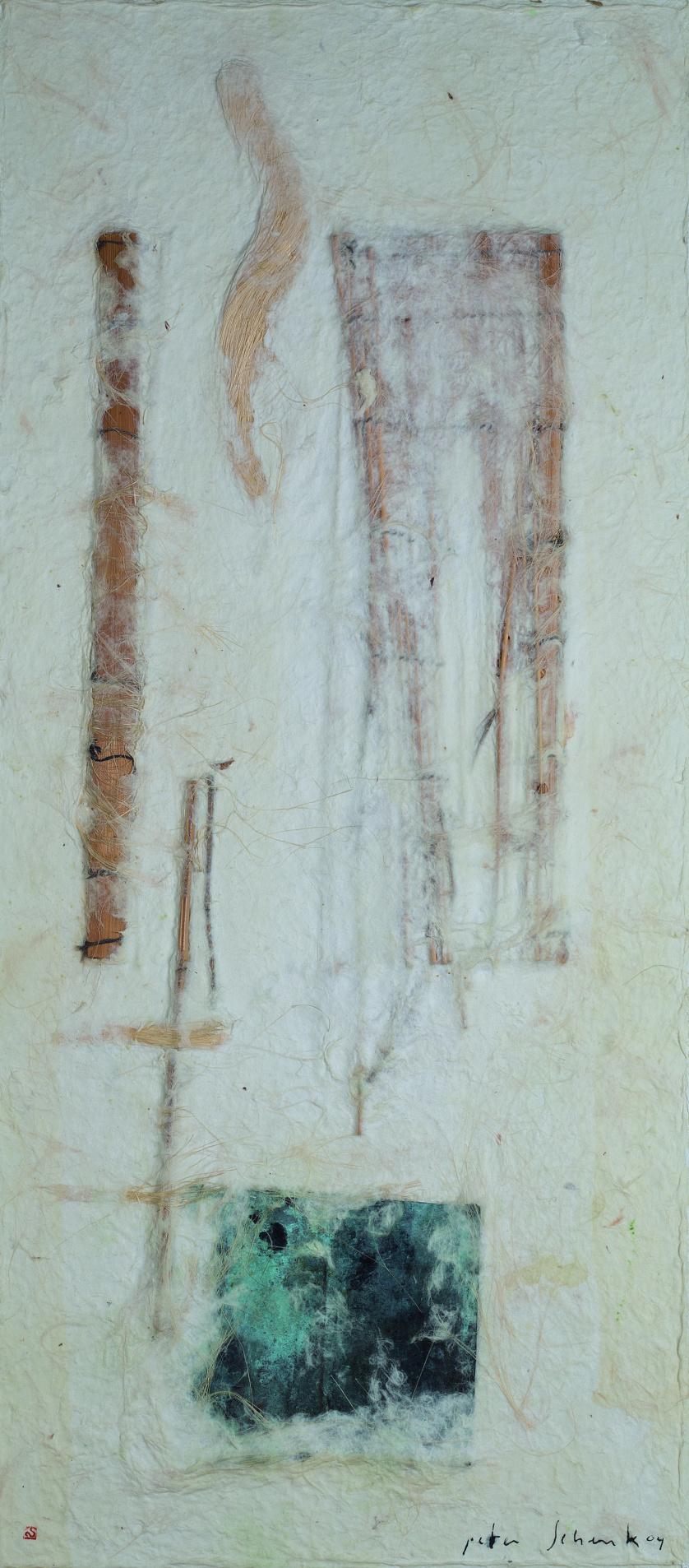 PETER SHENK, Compositic met bamboo en kooper, 2004