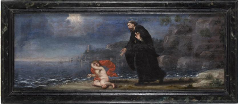 JOSÉ GARCÍA HIDALGO (1645-1717)San Agustín y el misterio d