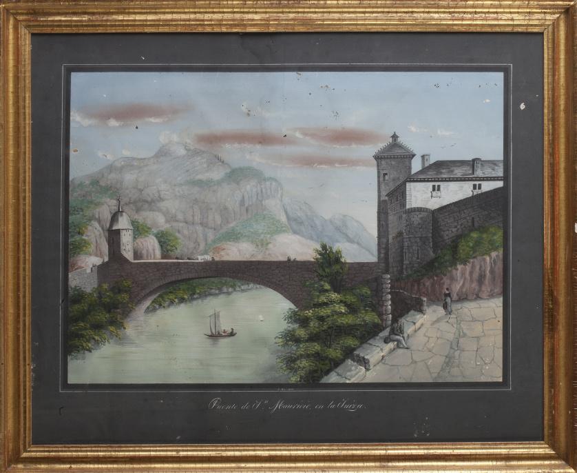 """J. MUR,  1839., J. MUR,  1839""""Casa de Guillermo Tell en Su"""