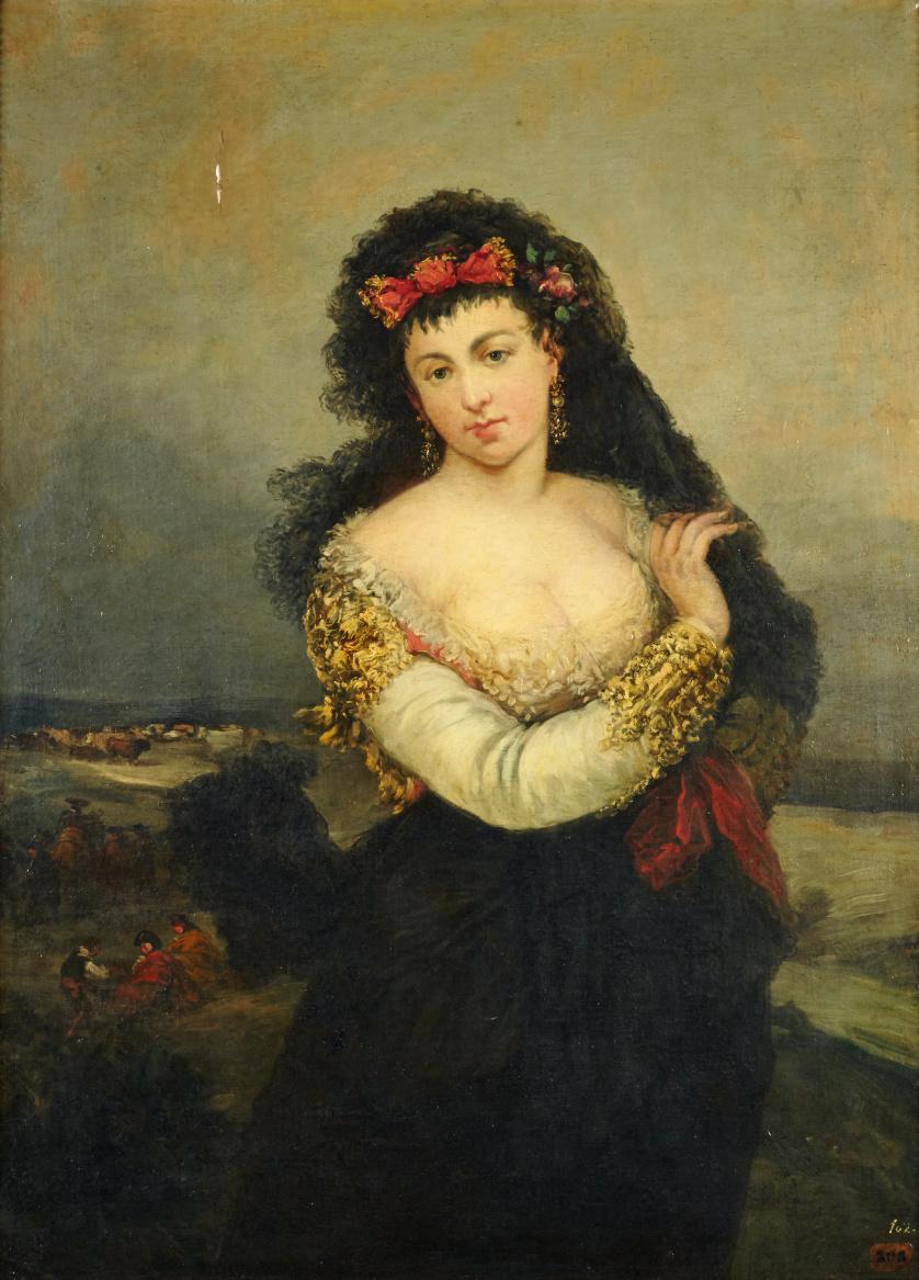 ATRIBUIDO A EUGENIO LUCAS VELÁZQUEZ (1817-1870), ATRIBUIDO