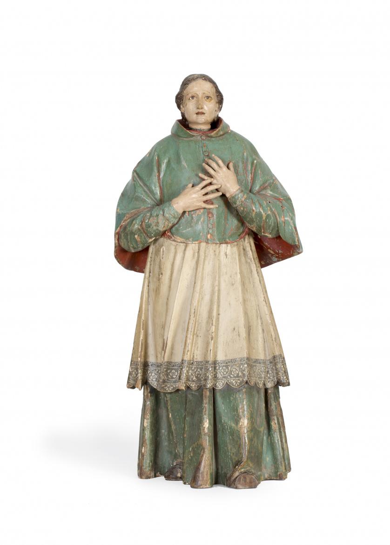 """José de Mora (Baza, 1642 - Granada, 1724)""""San Carlos Borro"""