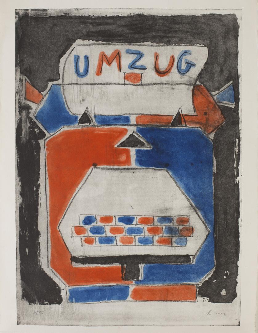 MANOLO QUEJIDO (Sevilla, 1946)Umzug (Serie máquina de escr