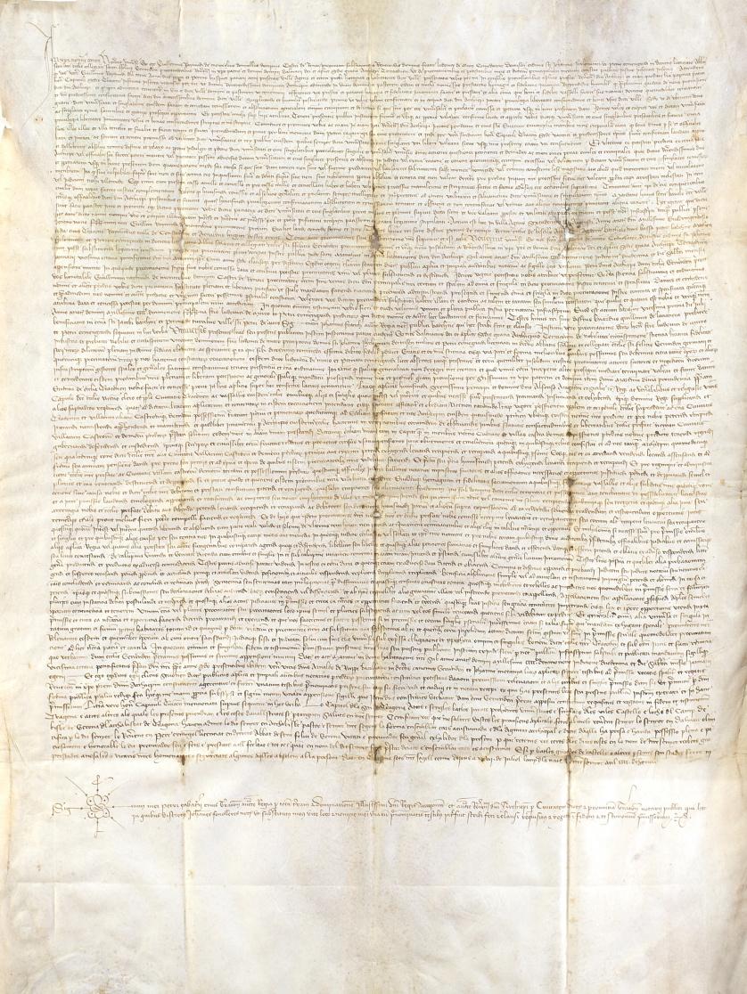 """Manuscrito de """"Guillermo Raymundo de Monteolivo"""" relacionad"""