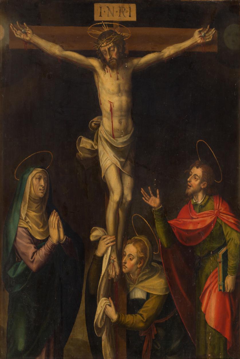 MIGUEL JOAN PORTA (c.1544- c.1616)Cristo crucificado con l
