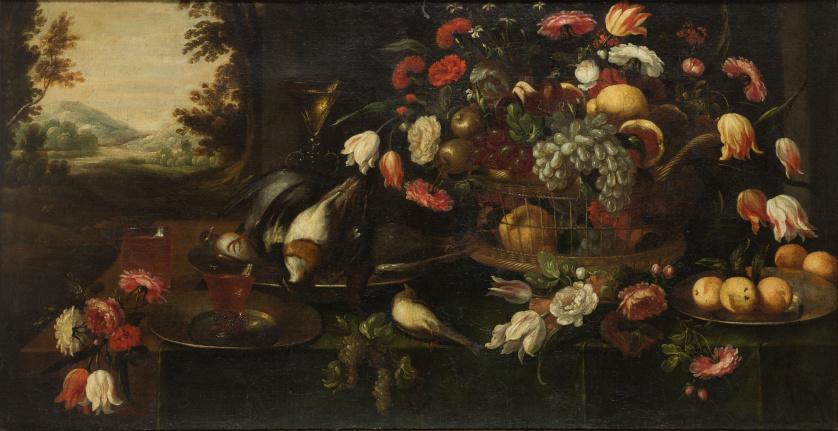 ATRIBUIDO A FRANCISCO BARRERA (c. 1595-1658)Bodegón de flo