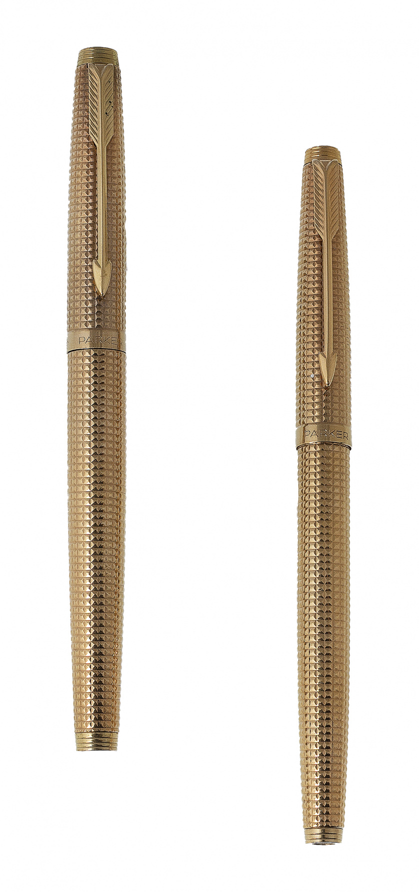 Conjunto de pluma y bolígrafo PARKER plaqué or con decoraci