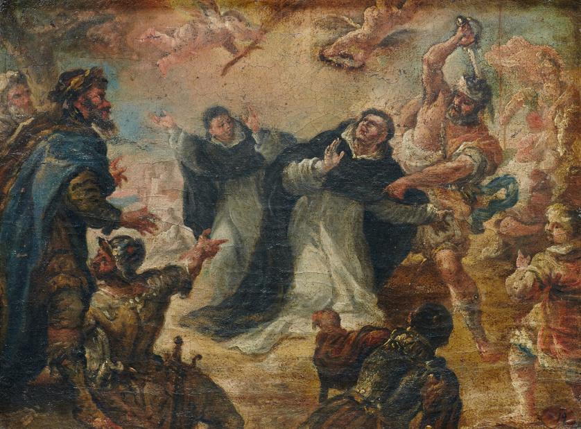 TORIBIO ÁLVAREZ (1668-1730)Martirio de san Pedro de Verona