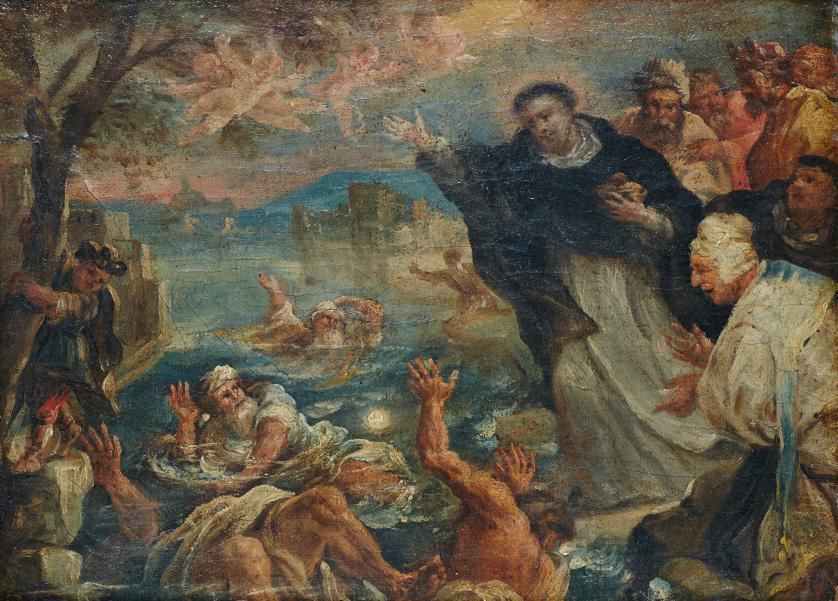 TORIBIO ÁLVAREZ (1668-1730)Milagro de san Pedro de Verona,
