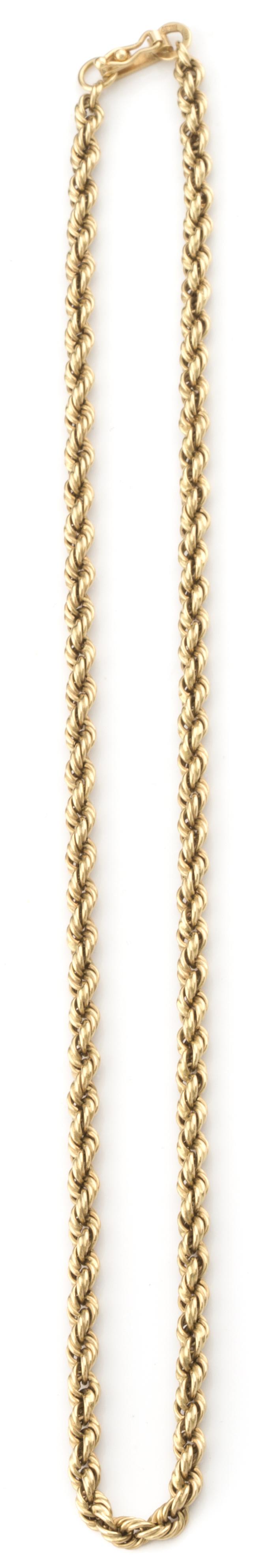 Collar de cordón rizado en oro de amarillo de 18K.