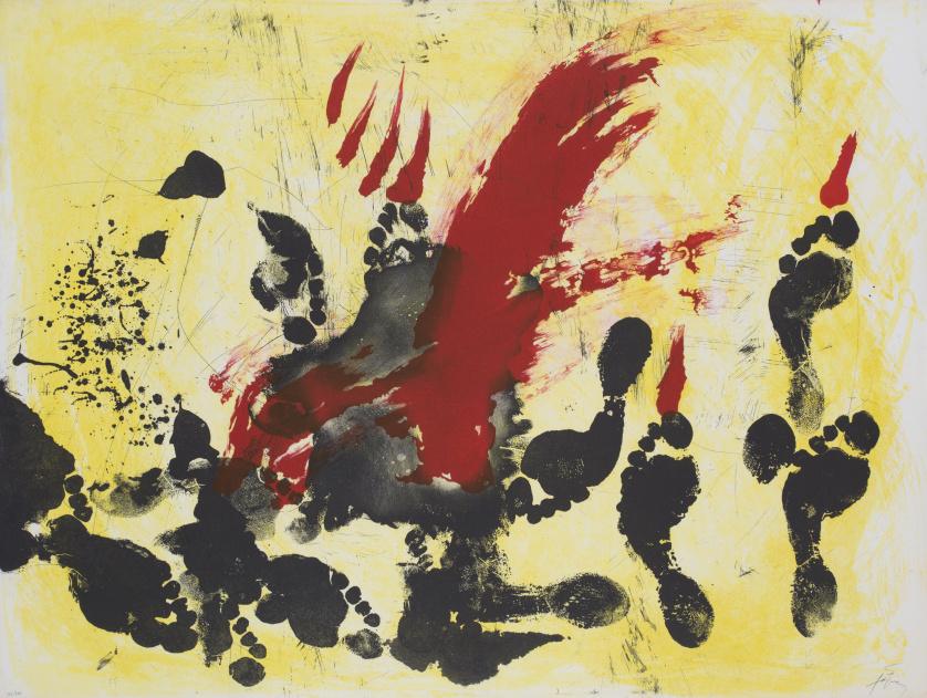 ANTONI TÀPIES (Barcelona, 1923 - 2012)La taca vermella, 19