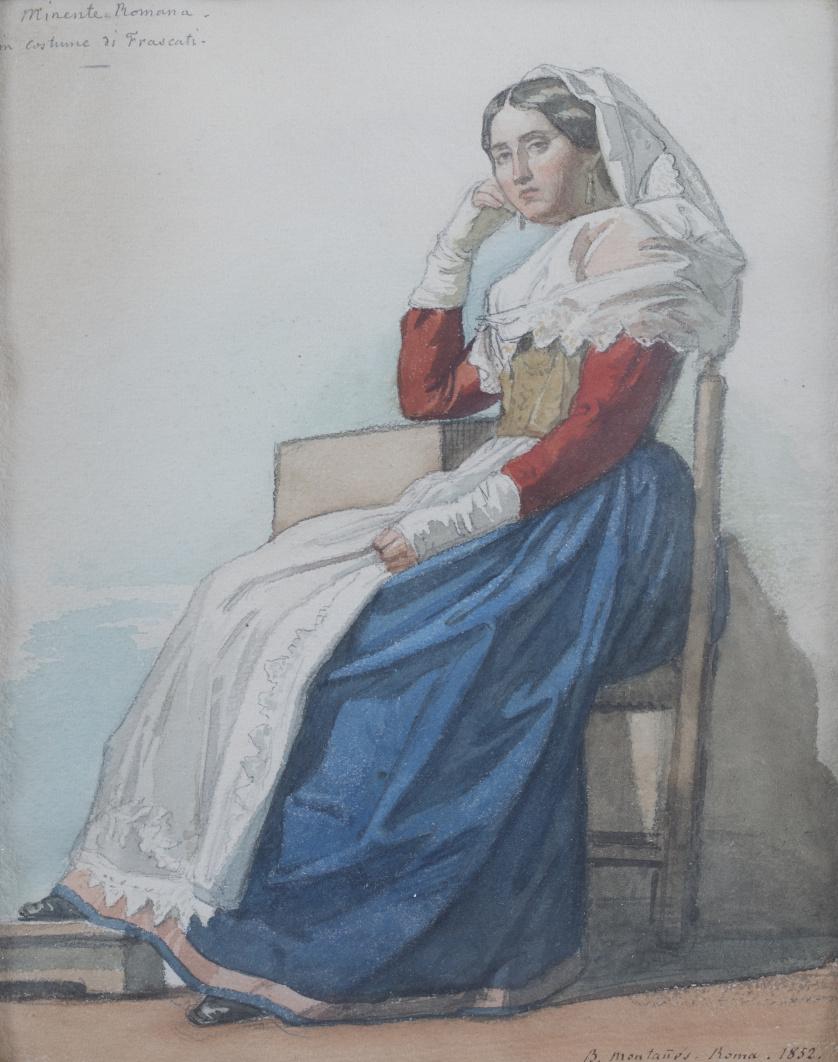 BERNARDINO MONTAÑÉS PÉREZ (Zaragoza, 1825-1893)Pareja de pe