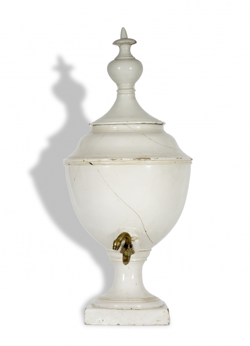 Aguamanil de cerámica esmaltada.Levante, S. XIX