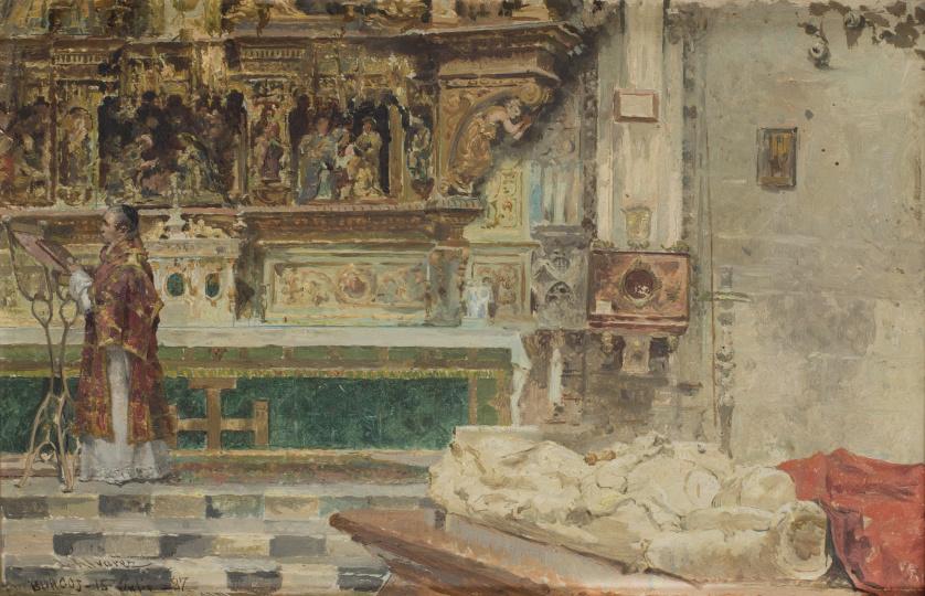 ESCUELA ESPAÑOLA, SIGLO XIXInterior de una iglesia