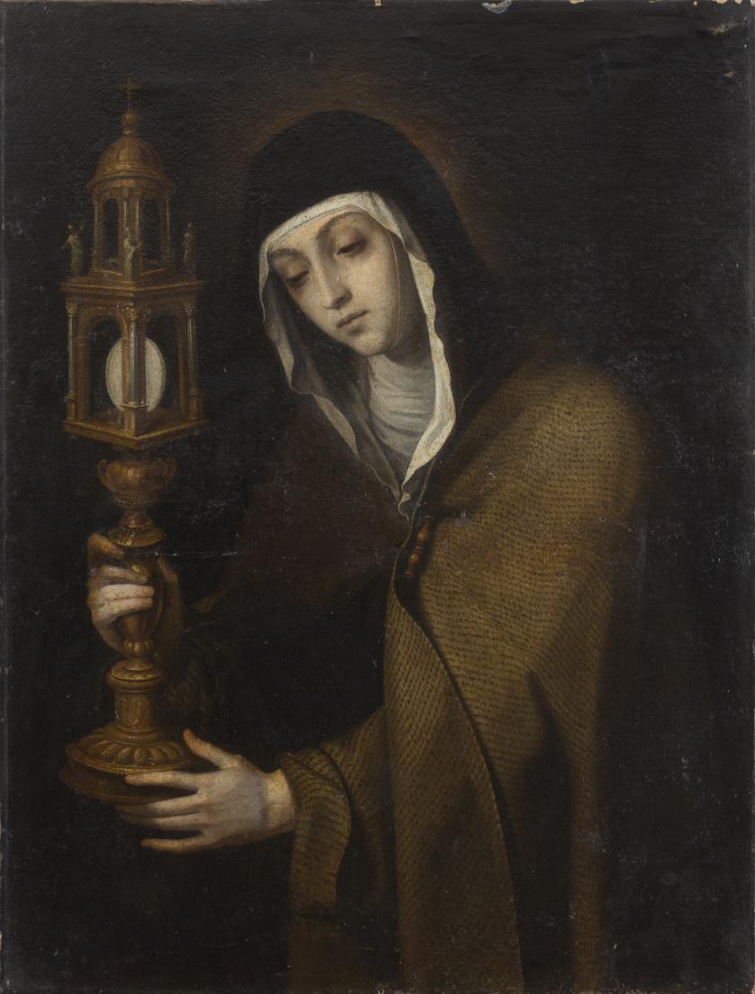 ESCUELA ESPAÑOLA, SIGLO XVIISanta Clara