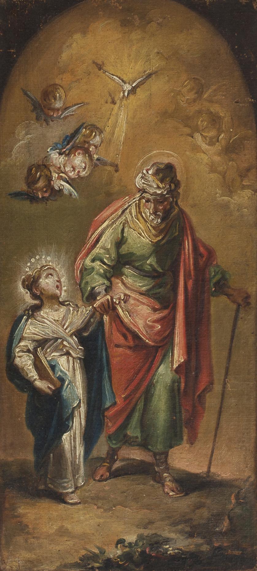 MIGUEL PARRA (1780-1846)San Joaquín con la Virgen niña, h.