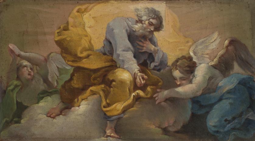 FRANCISCO LLÁCER (1781-1857)Padre eterno con dos ángeles