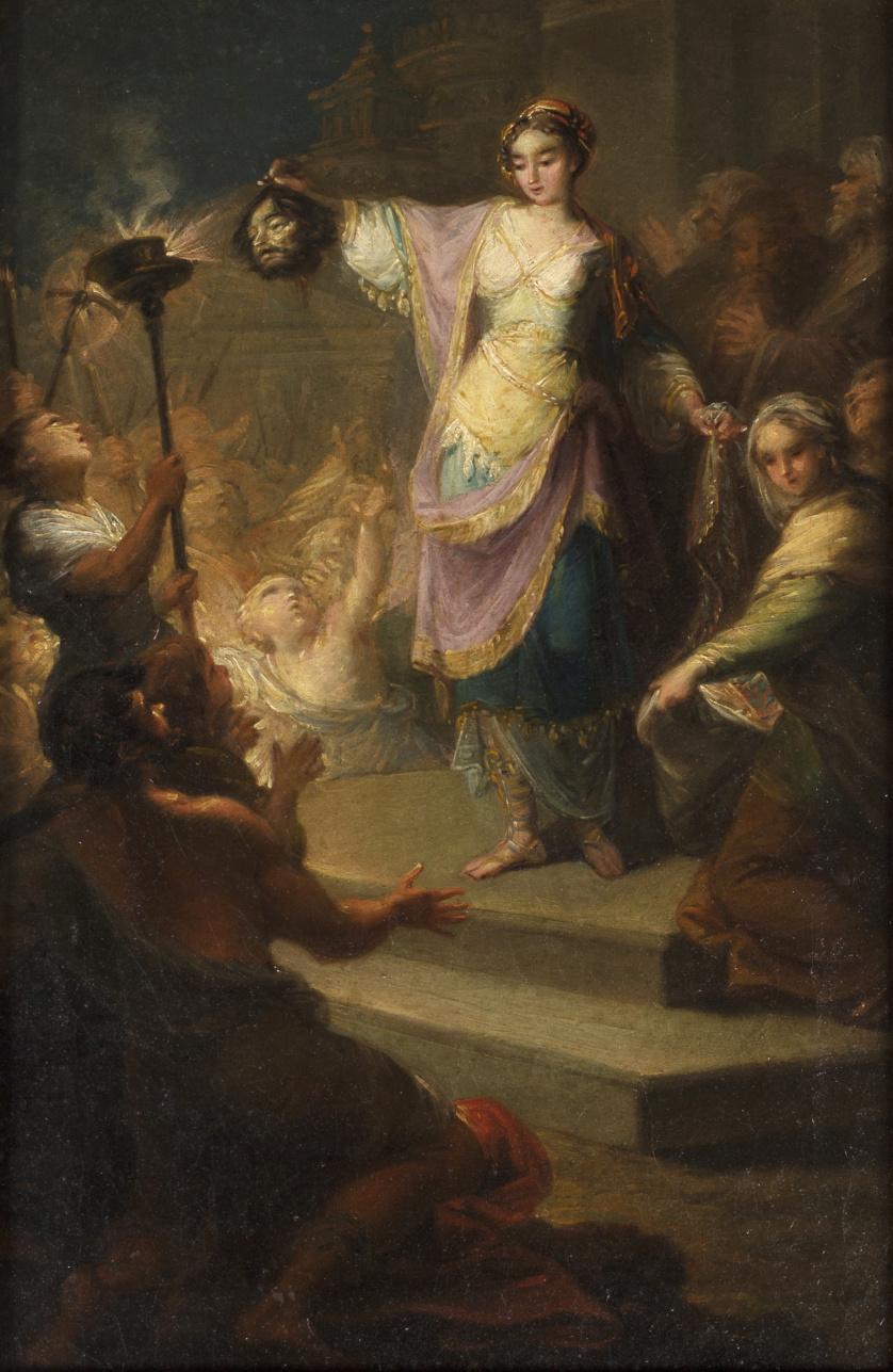 FRANCISCO LLÁCER (1781-1857)Judith entrando en Betulia con