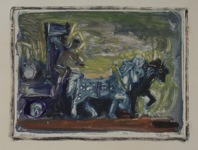 PEDRO FLORES (Murcia, 1897 - París, 1967)Carro de caballos
