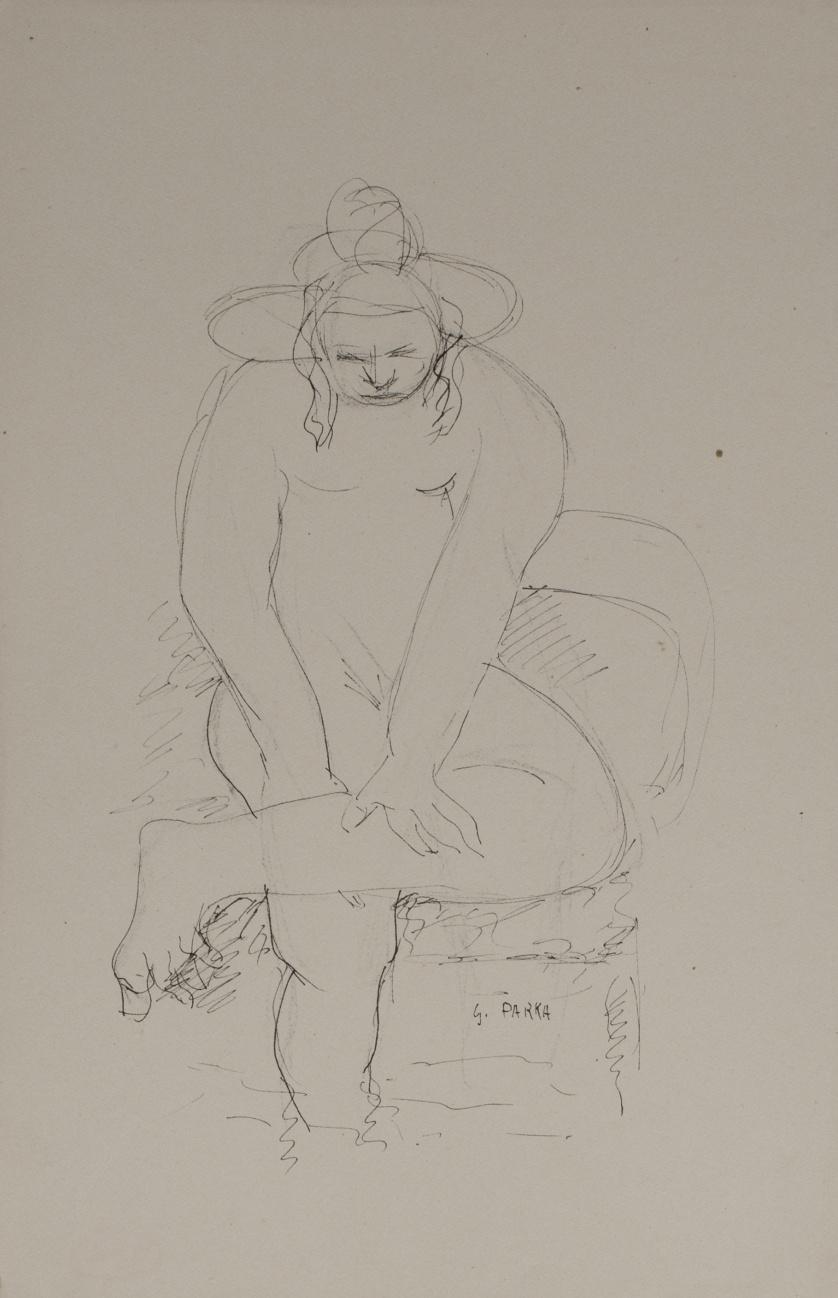 GINÉS PARRA (Zurgena, Almería, 1895 - París, 1960)Desnudo