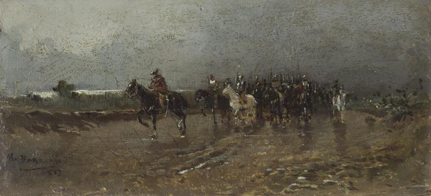 MARIANO BARBASÁN LAGUERUELA  (Zaragoza, 1864-1924)Escena mi