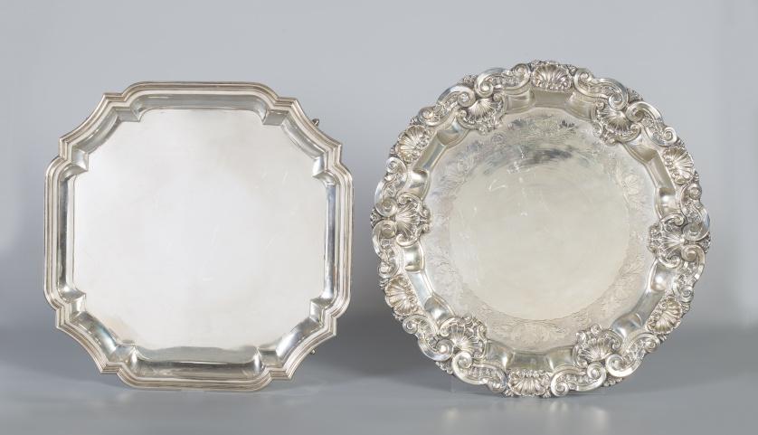 Cubiertos de servir de plata ley 830.Copenague, 1915-1930.