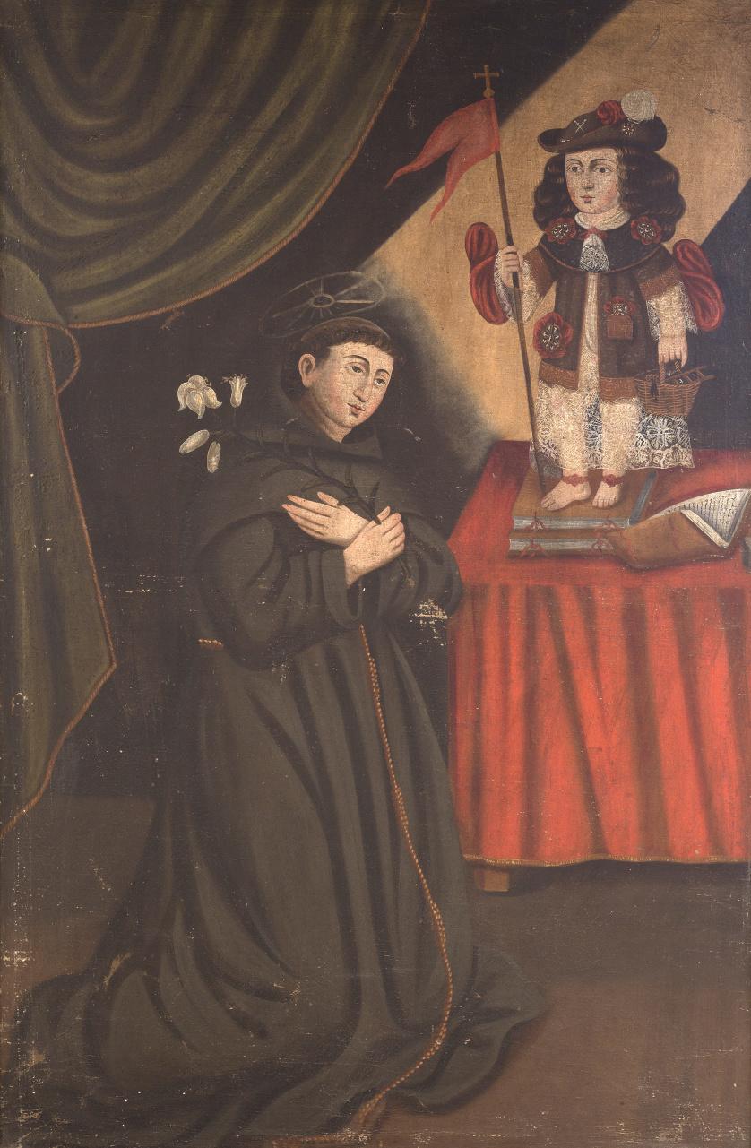 ESCUELA COLONIAL, SIGLO XVIIISan Antonio de Padua y el Niñ