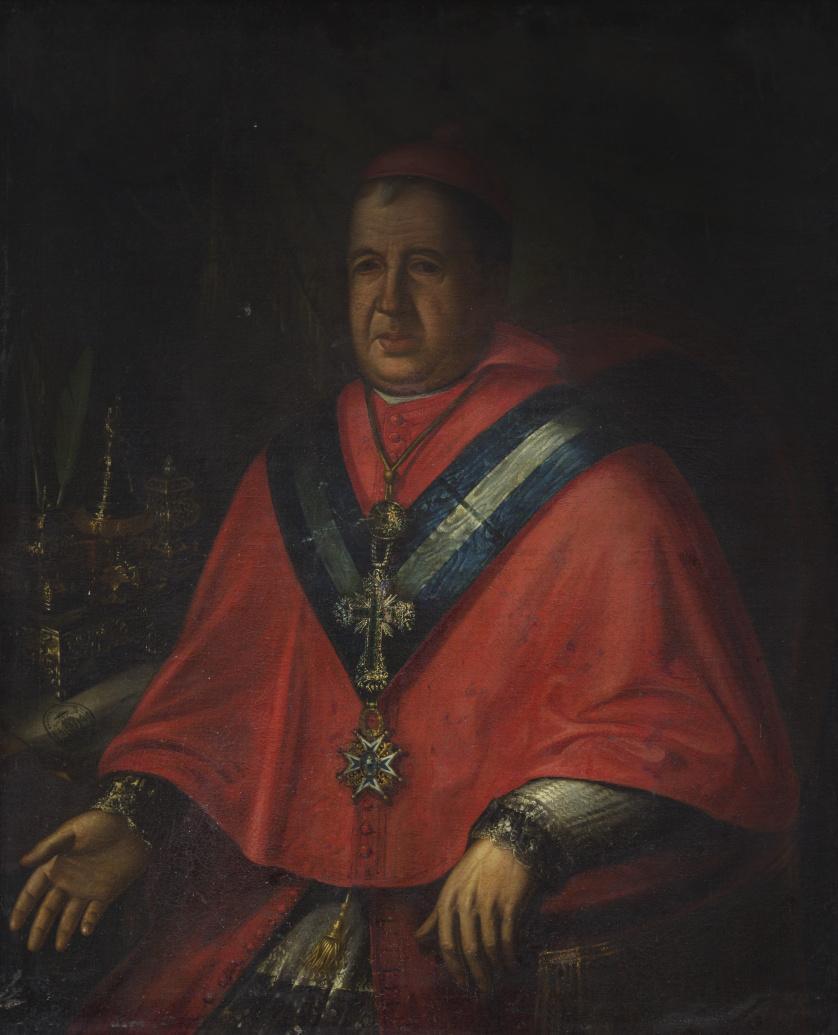 ESCUELA ESPAÑOLA, SIGLO XVIIIRetrato de un arzobispo cabal