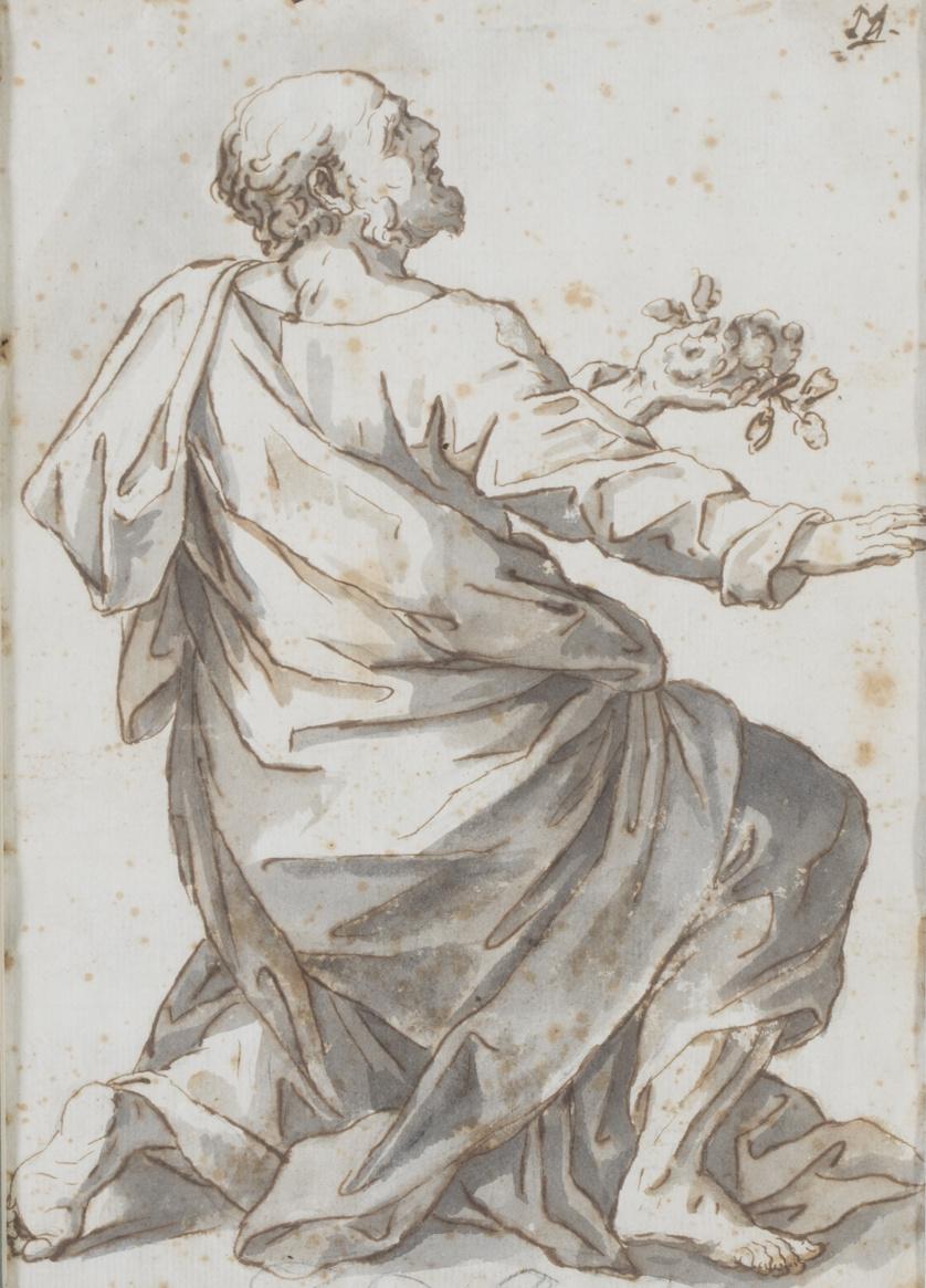 Escuela italiana o española, siglo XVIIEstudio de un santo