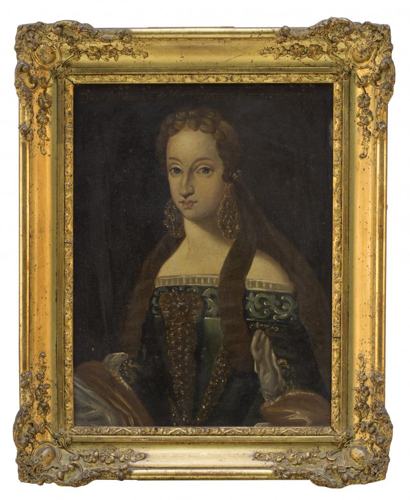 ESCUELA ESPAÑOLA, h. 1800Retrato de Dña. Aldonza de Mondra