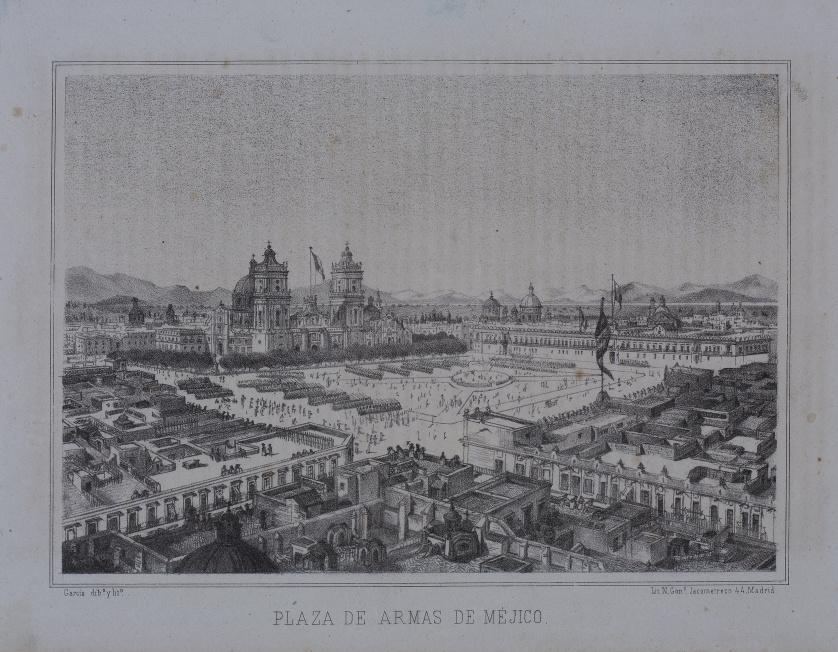 """GARCÍA (dib y litº), GARCÍA (dib y litº) """"Plaza de las Ar"""