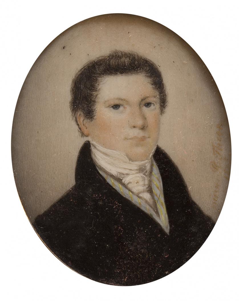 R. THEER (Escuela inglesa, h. 1885)Retrato de caballero co