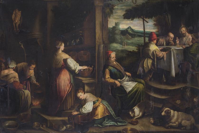 CÍRCULO DE JACOPO BASSANO (Escuela italiana, siglo XVII), C