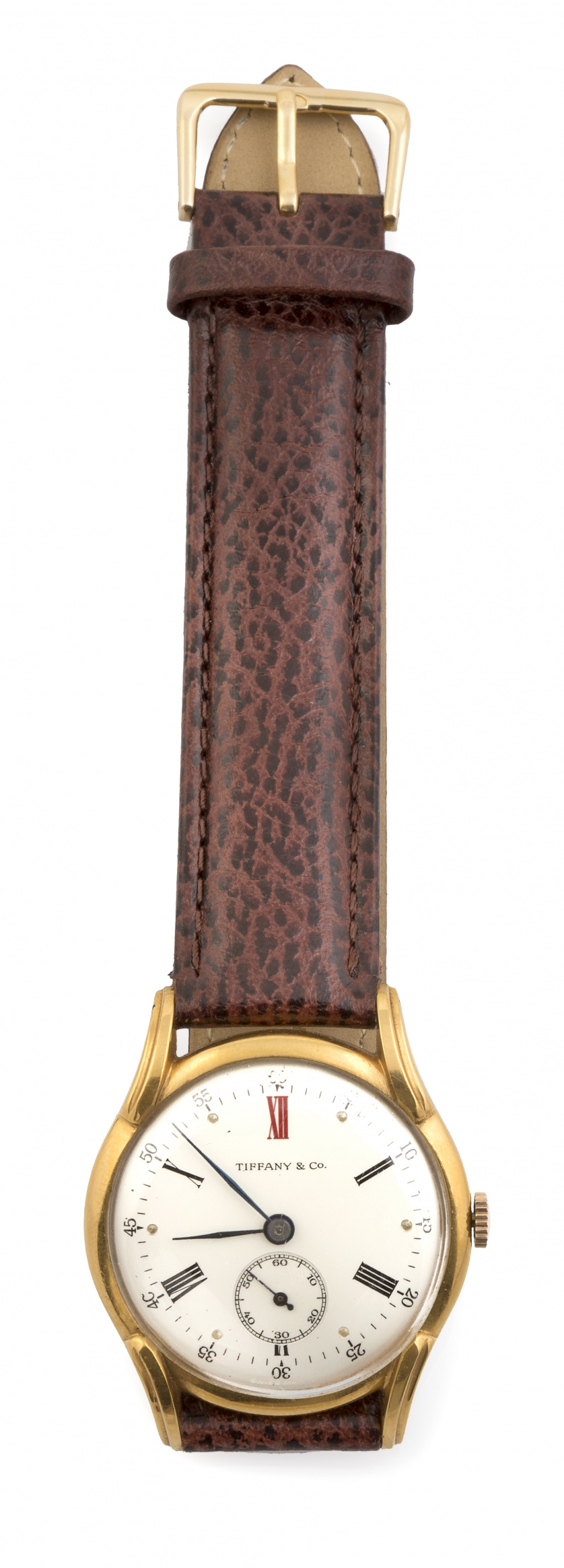 Reloj EBERHARD en acero, años 40-50