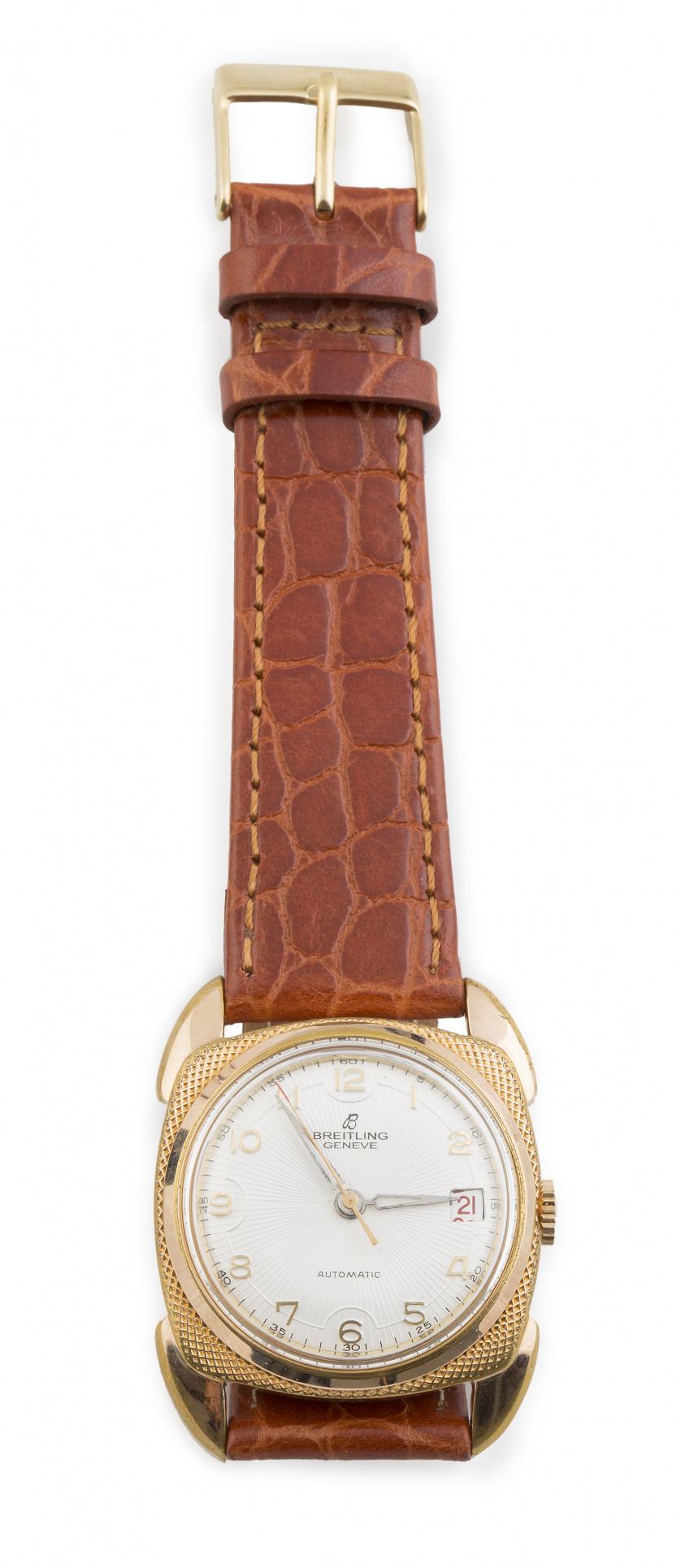 Reloj BREITLING años 50 en metal plaqué or