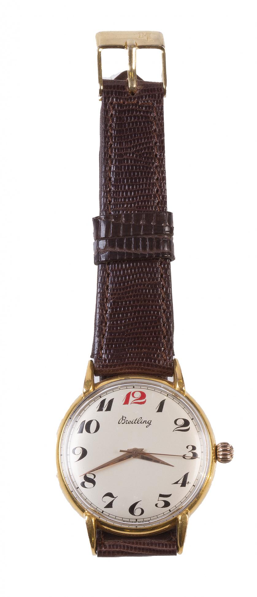 Reloj BREITLING años 30-40 en plaqué or