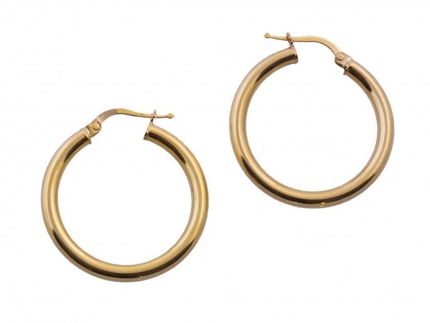 Pendientes criollas circulares de perfil tubular