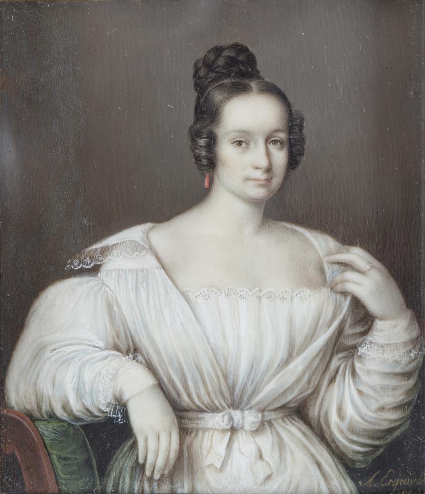 ANTONIO MARIA ESQUIVEL (1806-1857)Retrato de dama