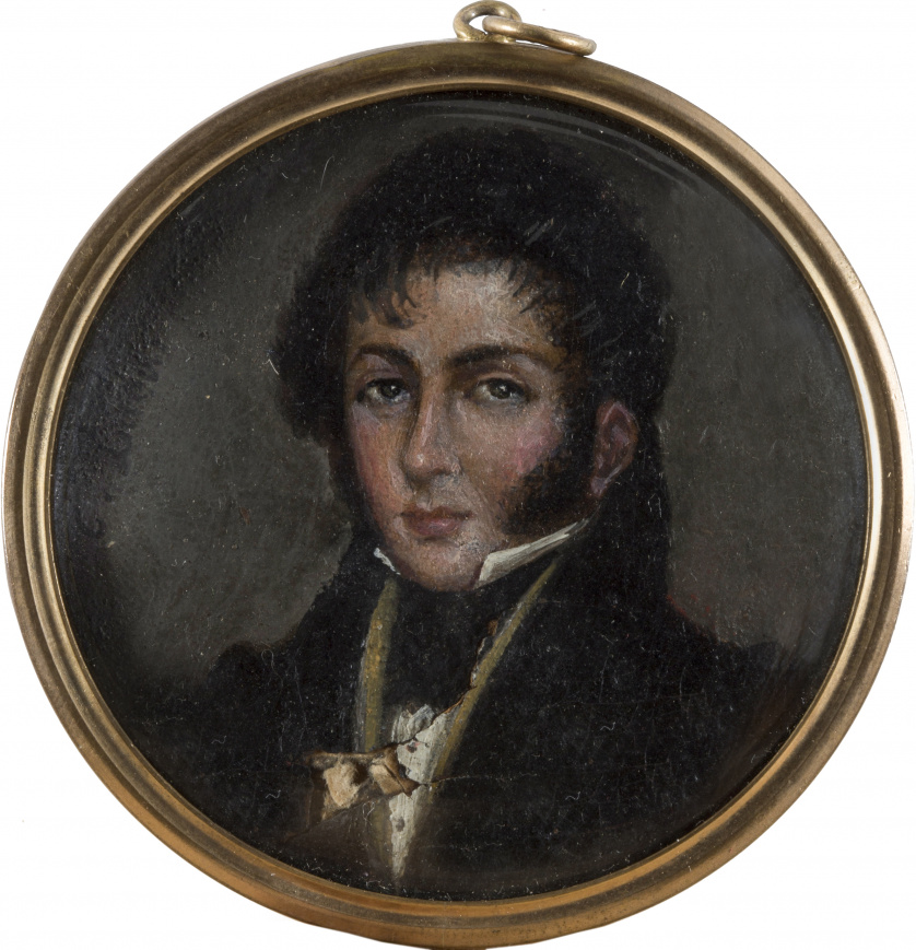 EUGENIO LUCAS VELÁZQUEZ (Madrid, 1817-1870)Retrato de caba