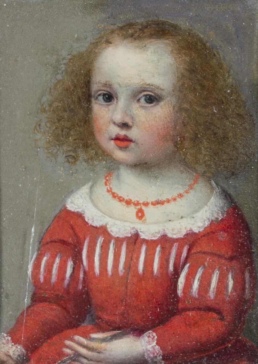 ESCUELA FLAMENCA, h. 1700Retrato de niña con collar de cor