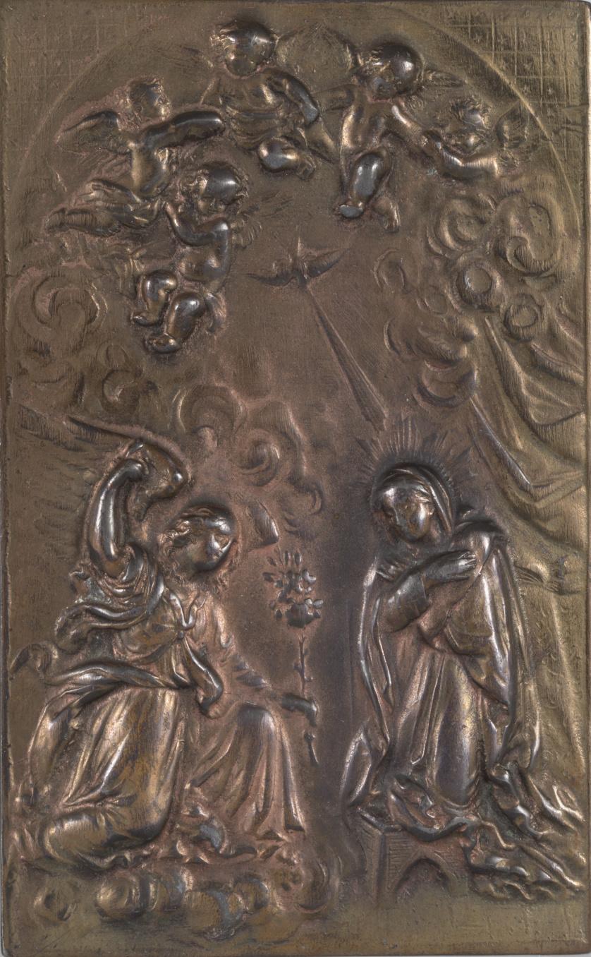 """""""La Anunciación""""Placa de bronceS. XVII-XVIII"""