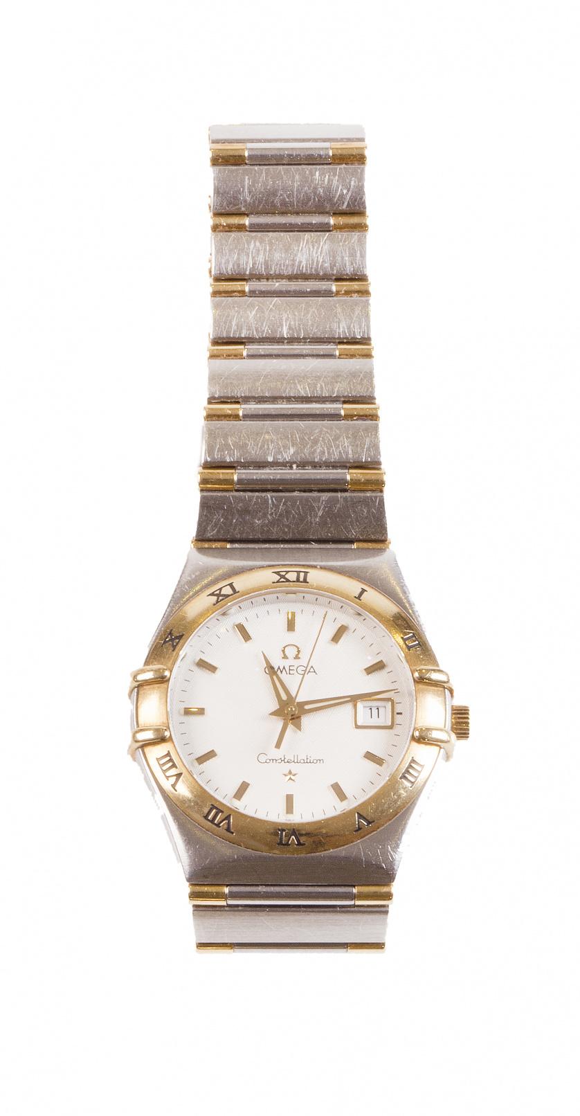 Reloj de pulsera de señora OMEGA CONSTELLATION en oro y ace