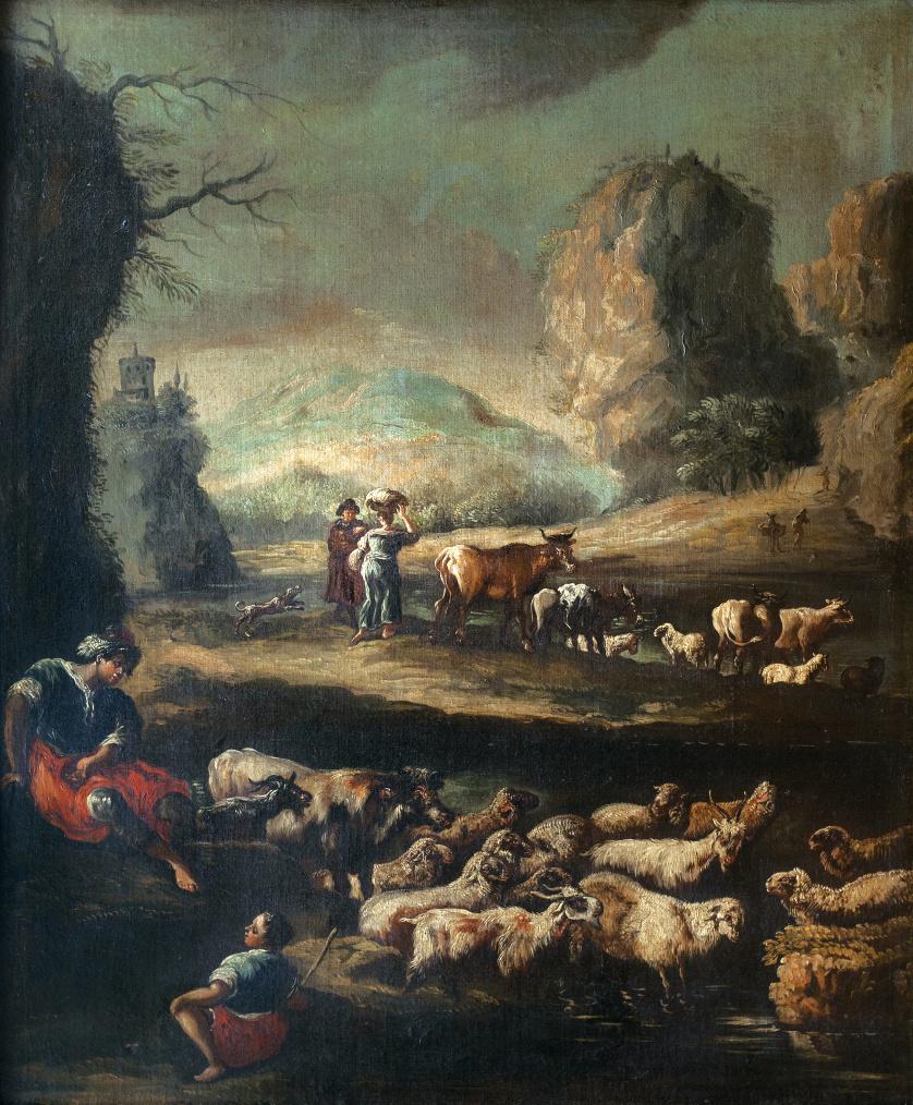 ATRIBUÍDO PHILIPP PETER ROOS, llamado ROSA DA TÍVOLI (1657-