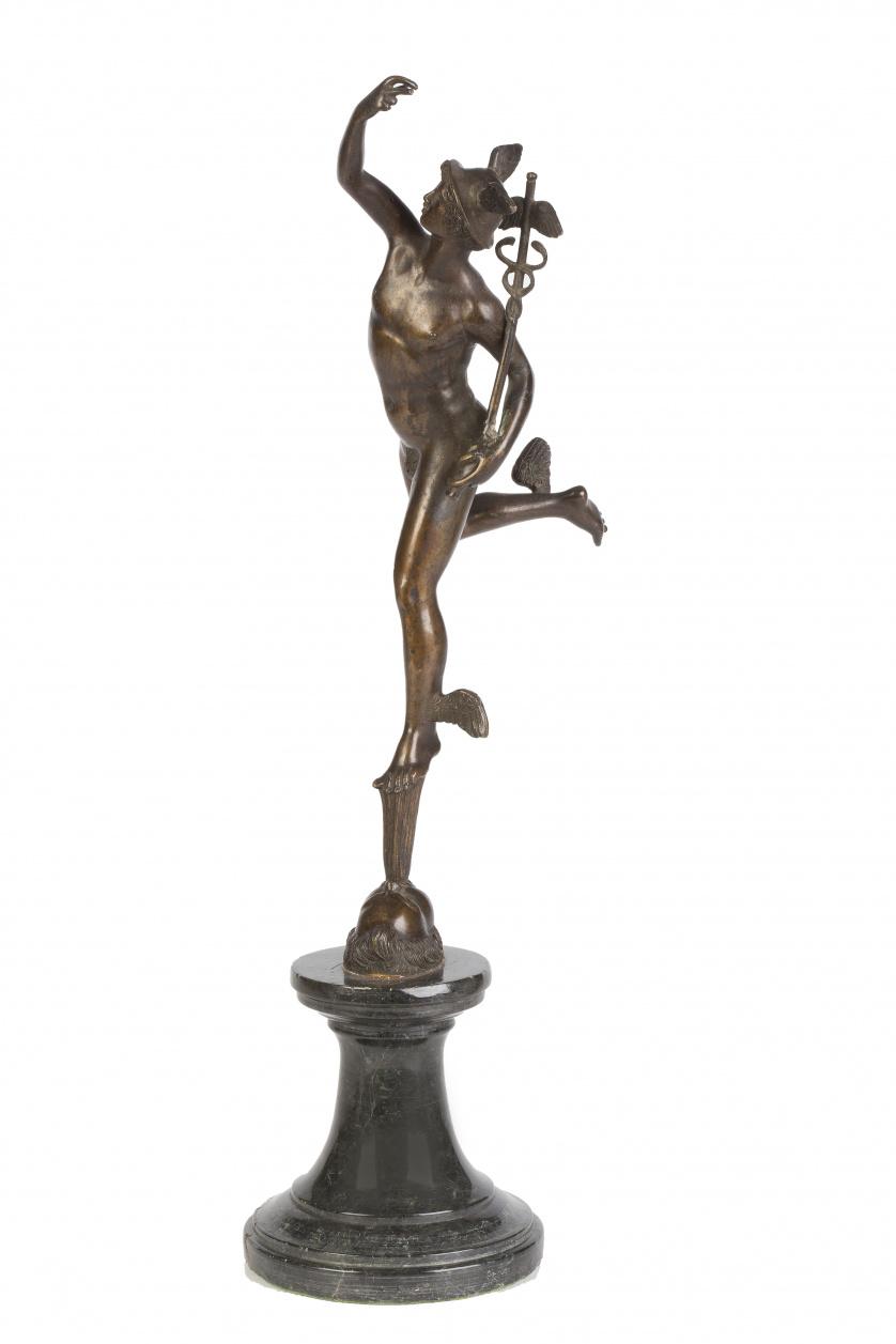 """Mercurio""Bronce según Giambologna.Italia, S. XIX"