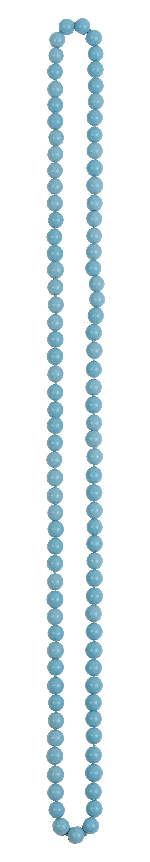 Collar largo de cuentas esféricas de 8 mm de turquesas reco