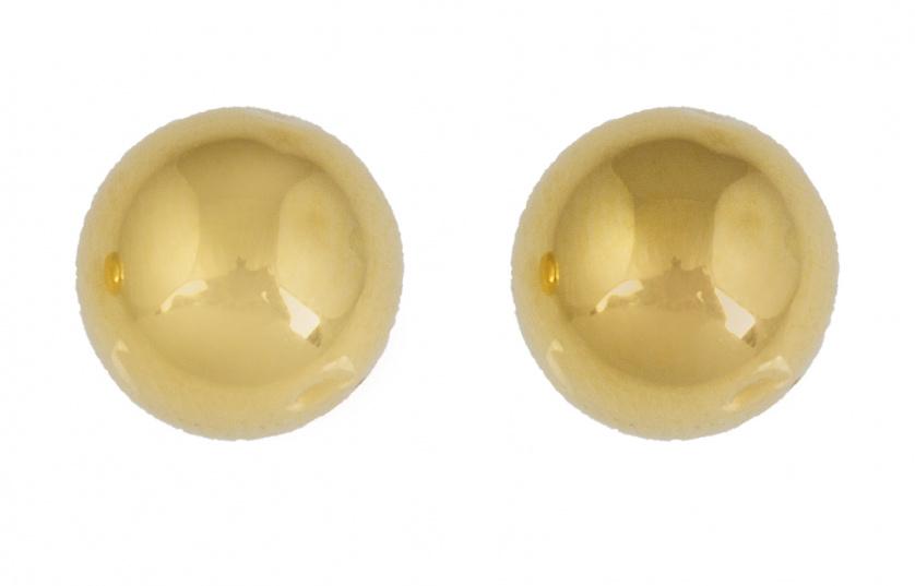 Pendientes en forma de esfera de oro amarillo de 18K