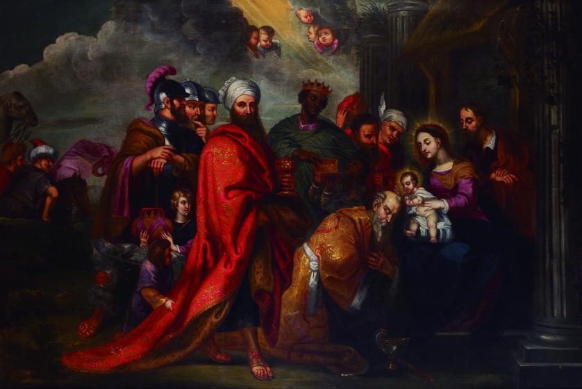 ESCUELA FLAMENCA, H. 1700Adoración de los Reyes Magos