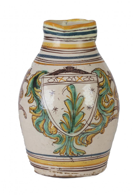 Jarra en cerámica esmaltada.Puente del Arzobispo, S. XVII