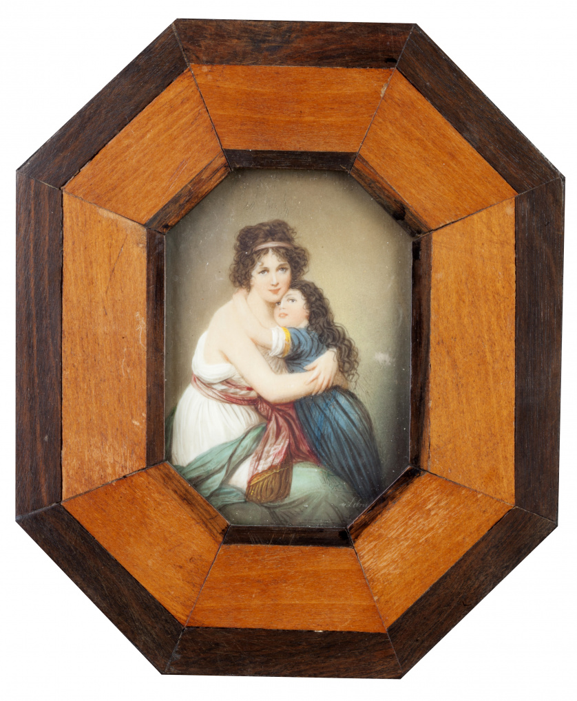 SEGÚN ELISABETH VIGÉE LE BRUN  (Escuela inglesa, siglo XIX)