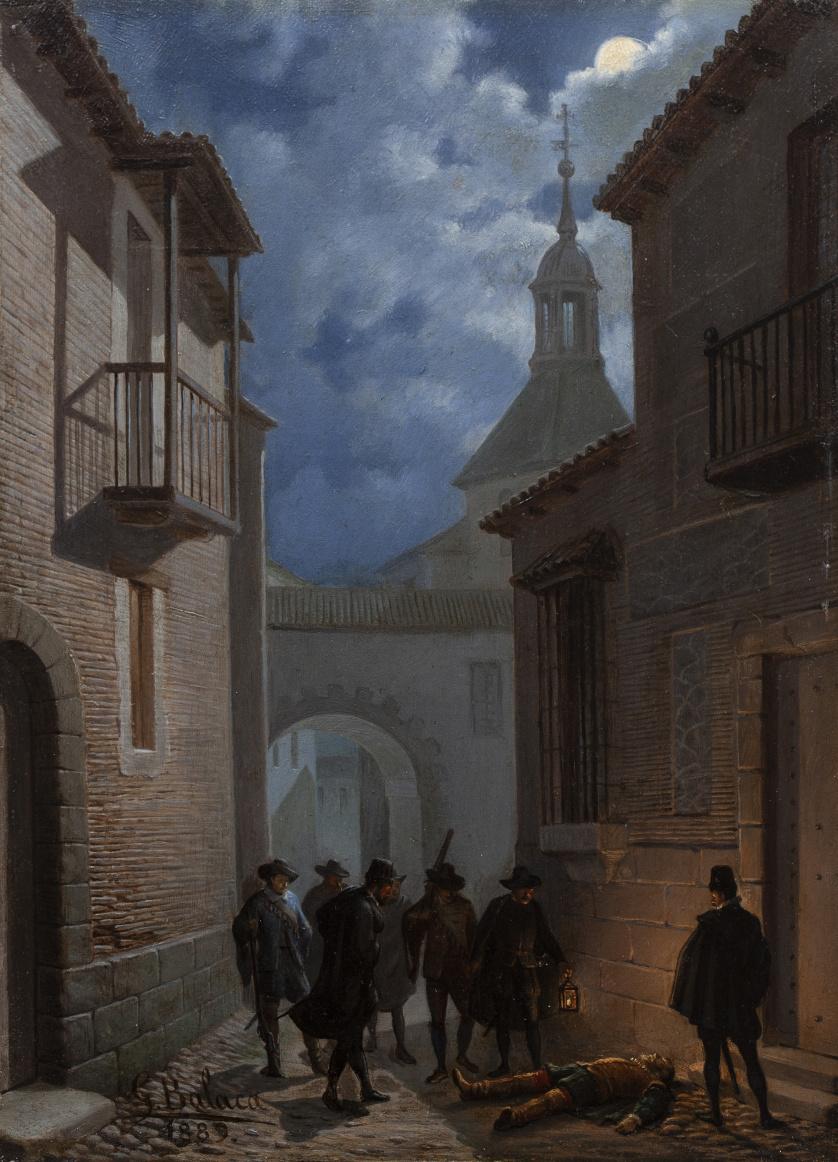 EDUARDO BALACA Y OREJAS-CANSECO (1840-1914)La muerte del